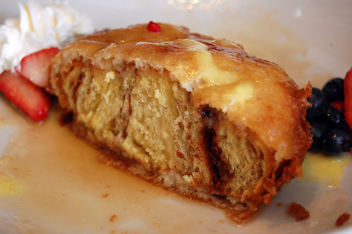 Deep Fried Cinnamon Bun - Cut