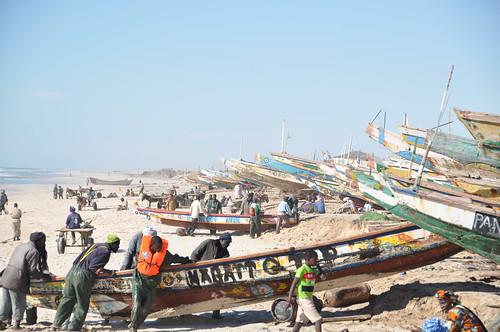 Fishing beach in Nouakchott