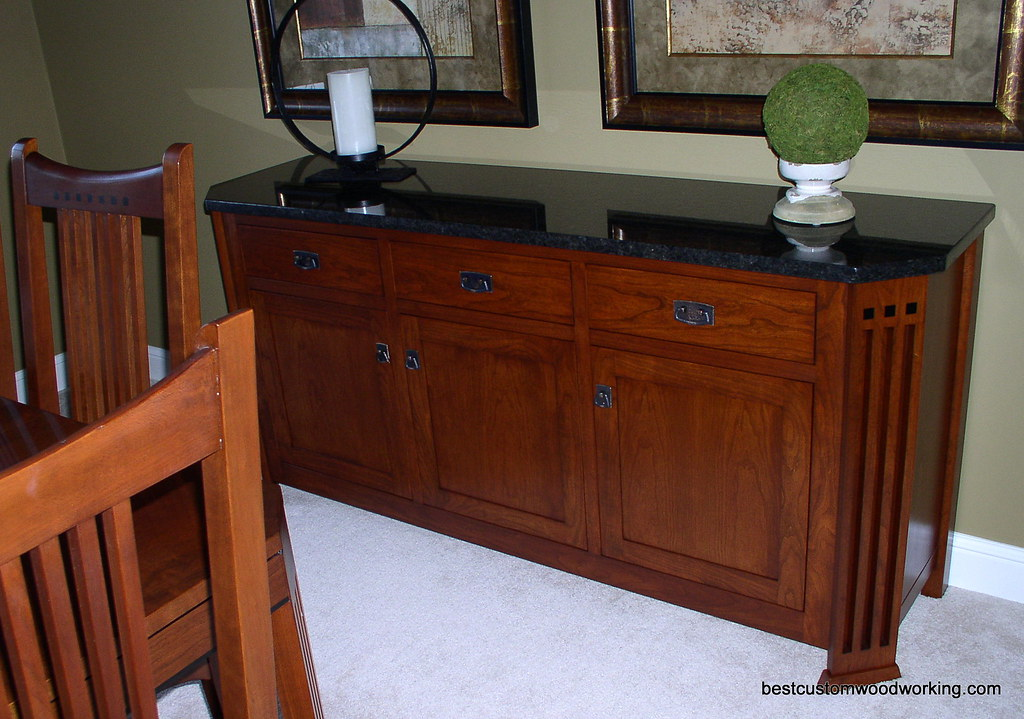 Custom Cherry Buffet (Stickley-Inspired) View 3.