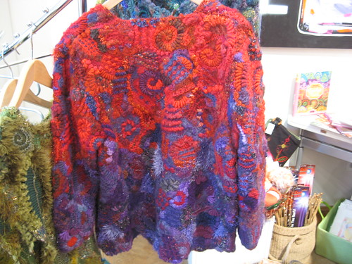back of Prudence's FF cardigan