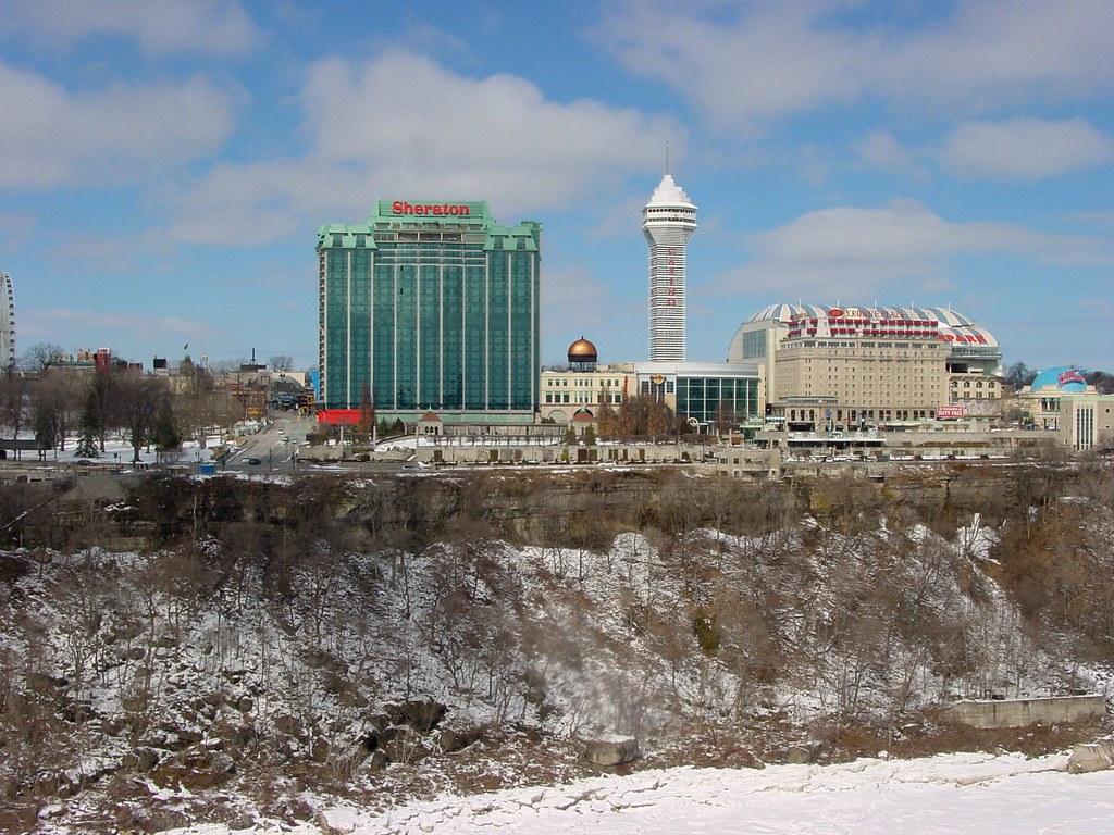 Niagara Falls, Ontario - as seen from across the frozen river