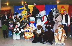 Rapid T. Rabbit at Hannaford Kids Expo in Albany NY 2010 (NYC Bunny) Tags: rabbit t starwars costume sylvester characters tweety mascots rapid daffyduck looneytunes fursuit hi4 rapidtrabbit