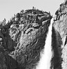 Highs and Lows (Thomas Hawk) Tags: california bw usa waterfall unitedstates unitedstatesofamerica yosemite natureshand