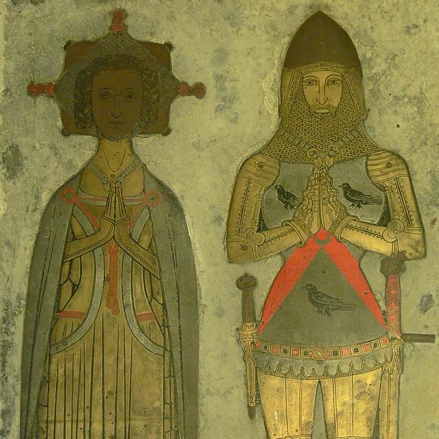 Upper detail of William Bagot brass