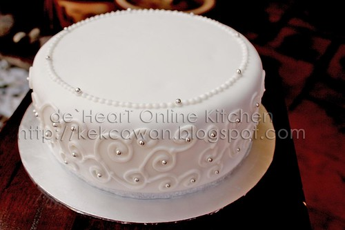 Fondant cake for Fresh Flower Deco