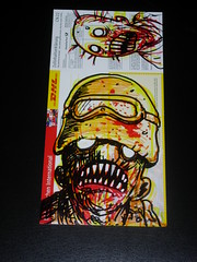 dhl zombie (andres musta) Tags: art sticker stickerart zombie stickers postal squad custom adhesive andres dhl zas musta zombieartsquad
