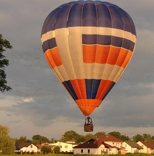 Lidojums gaisa balonā dzimšanas dienā Jelgavā.