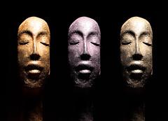 raku (Mark Florko) Tags: sculpture ceramic heads raku