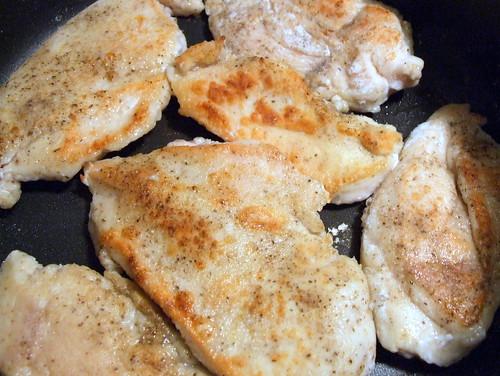 brown chicken breasts