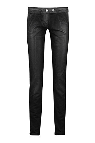 Alexander McQueen wet-look skinny jeans, $700. Available from a selection at Net-A-Porter.com.