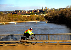 bike shadow over potomac (BillRhodesPhoto) Tags: shadow bicycle washingtondc nc asheville georgetown potomacriver billrhodes teddyrooseveltisland