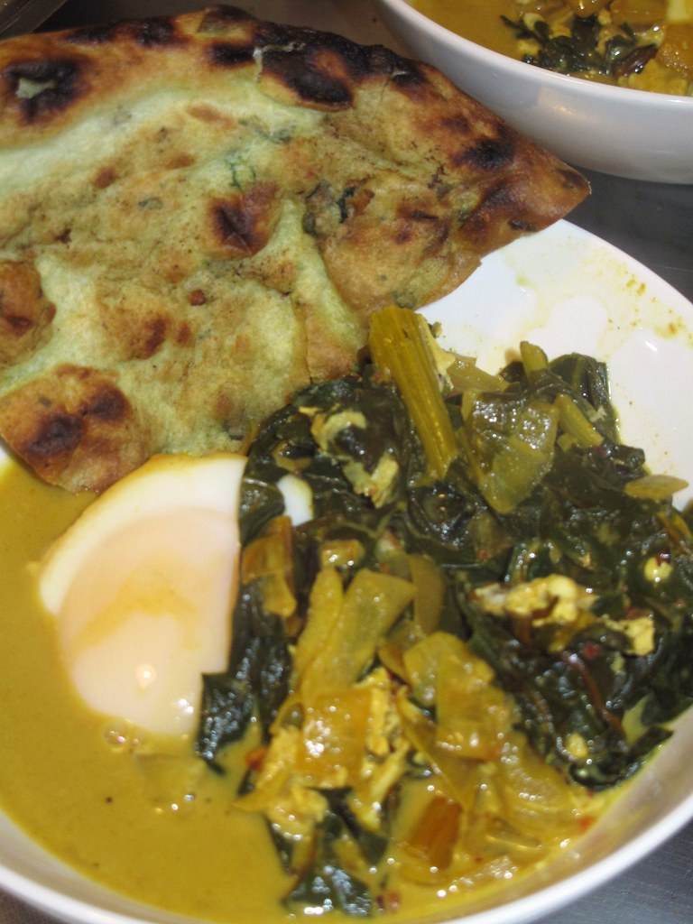curried winter greens