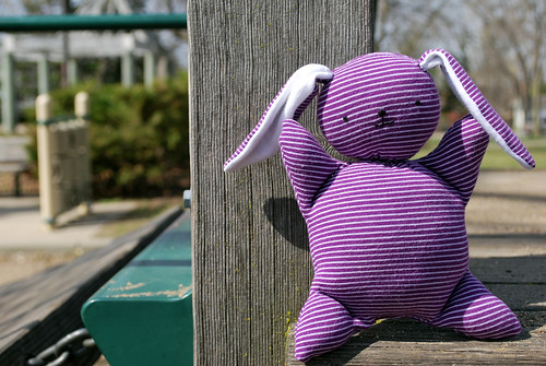 purple bunny toy society drop3 April 2010 by Beeper Bebe.