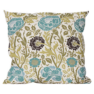 aqua thistle pillow Terrain