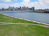 View From Liberty State Park (scottdunn) Tags: newyorkcity newyork spring cityscape gothamist kap kiteaerialphotography ellisisland libertystatepark fotografiaaéreacompipa photoparcerfvolant fesseldrachenluftbildfotografie