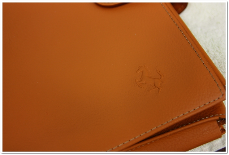 Leather owner's manual cover treated with Leatherique