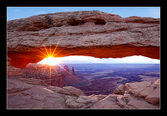 Renewal | Mesa Arch (bku Photography) Tags: sunrise canyonlandsnationalpark sunburst np renewal sunstar airporttower mesaarch canon1635mmf28l washerwomanarch canon5dmarkii monstertower bkuphotography