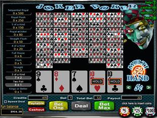 deposit online casino joker poker
