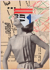 At the End (Fierceham) Tags: collage collageart graphic graphicart graphicdesign typography woman vintage vintagemagazines pattern cutandpaste cut paste cutnpaste