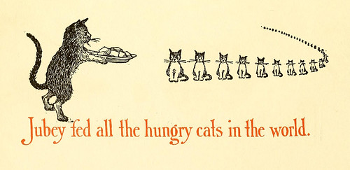 Jubey led all the hungry cats in the world.