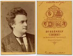 Friedrich Mittenwurzer (josefnovak33) Tags: vienna old vintage de photograph actor cdv visite carte