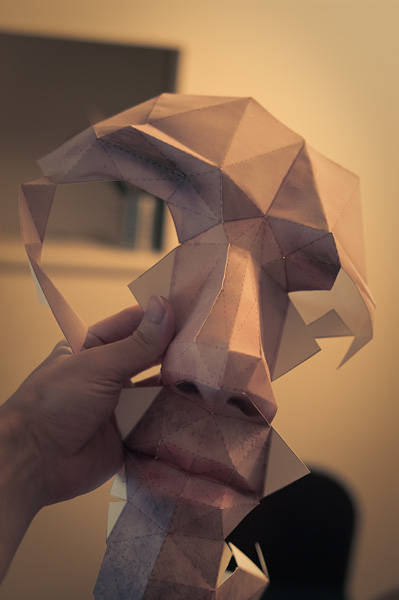 Awesome Papercraft Self-Portrait