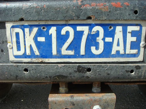 Licence plate, Senegal.