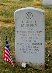 Audie Murphy, Arlington National Cemetery (Most Decorated Soldier, WWll) (Tony Fischer Photography) Tags: usa cemetery grave infantry dead army virginia us war texas unitedstates respect glory military wwii honor graves hero moviestar arlingtonnationalcemetery veteran irishamerican audiemurphy tohellandback vererans