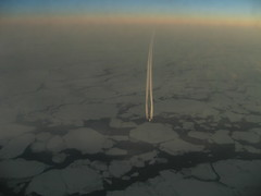 Airplane From an Airplane I (Marielle de los Angeles) Tags: sunset sky airplane northpole