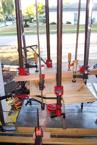 Clock frame glue-up