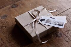 (Peonies and Polaroids) Tags: cat photographs prints hanging ribbon etsy giftbox boxedset minimoocards miniatureprints