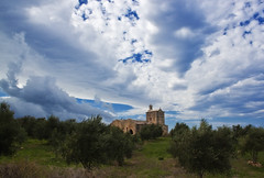 Old church and cloudy sky II (Theophilos) Tags: sky clouds greece crete olives oldchurch olivegrove rethymno