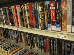 Books on the grocery store shelves