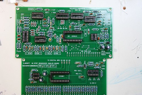 MFOS analog sequencer boards