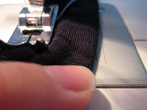 Twin needle seam gauge