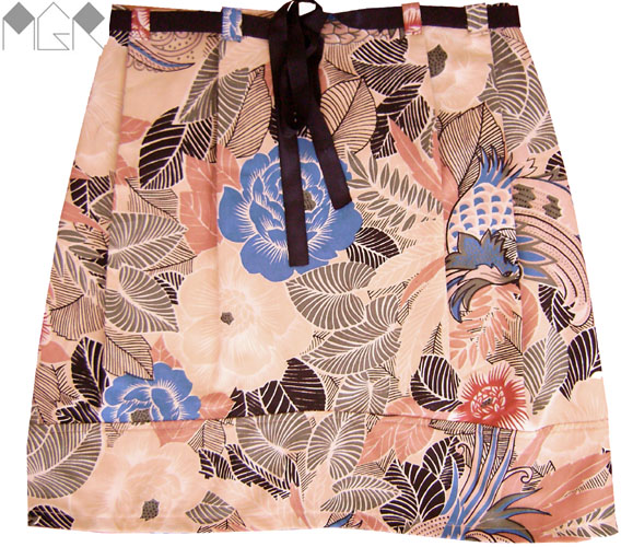 Falda caramelo estampada flores pollera verano flores