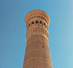 Kalon Minaret (Trouvaille Blue) Tags: travel minaret islam kalyan khan uzbekistan centralasia bukhara towerofdeath trouvailleblue