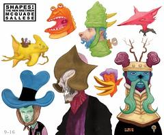 SHAPES: The new Brethren (LandoMcQuade) Tags: illustration book funny comic humor cartoon fantasy comicbook animation horror characters monsters creatures legend myth mcquade