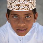 Blue eyed boy, Masirah island, Oman
