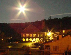 Full Moon Over Mountain Lake Hotel (Mountain Lake Hotel) Tags: hiking backpacking crosscountryskiing appalachiantrail trailrunning familyadventurerecreation virginiafamilygetaways ecofriendlysustainabledestinations wildlifeviewinginvirginia allinclusiverecreation