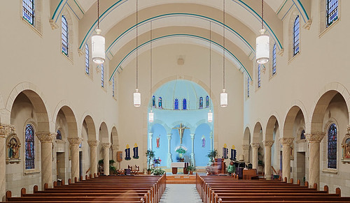 Saint Augustine Roman Catholic Church, in Breese, Illinois, USA - nave