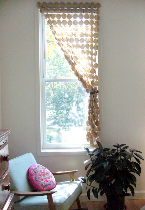 DIY fabric circle screen curtain