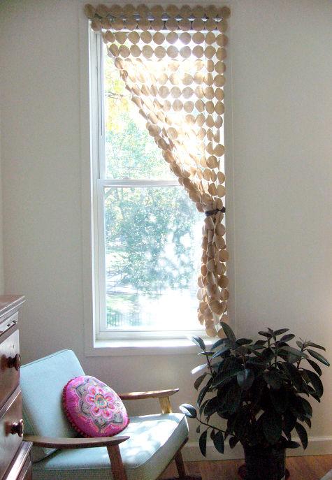DIY fabric circle screen curtain