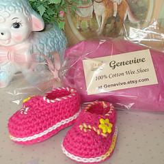 Sample Packaging (Genevive_Too) Tags: baby socks children infant shoes handmade crafts crochet footware newborn easy etsy genevive slippers booties babybooties loafers artfire crochetpattern crochetpatterns weeshoes