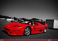F50 (Derek Walker Photo (Derk Photography)) Tags: red white black hot car rock club america nikon track ct ferrari exotic coloring lime supercar spotting selective f50 derk d80