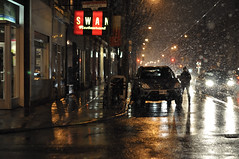 Stormy Tuesday (Dan Goorevitch) Tags: street people snow toronto color colour cars night danielgoorevitch dangoorevitchdotcom wwwdangoorevitchcom dangoorevitch