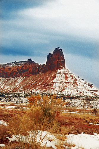 Outside Canyonlands flim grain photo