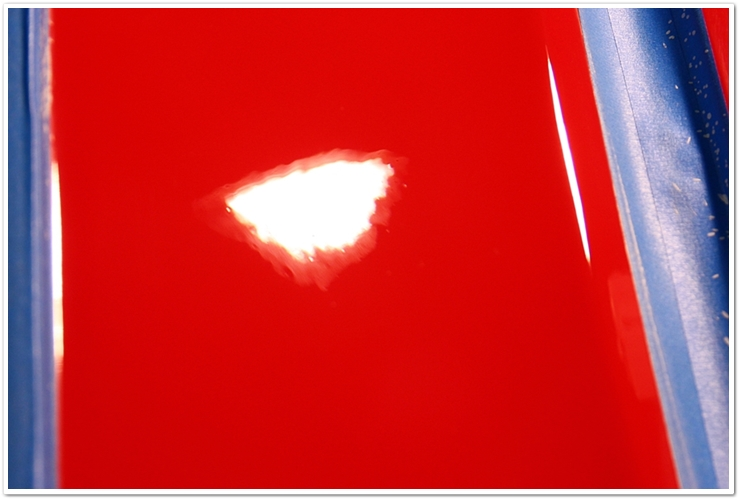 Ferrari 355 GTS engine cover after refinishing