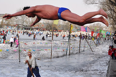 Dive (Christopher Cherry) Tags: china winter cold swimming dive beijing    houhai shishahai