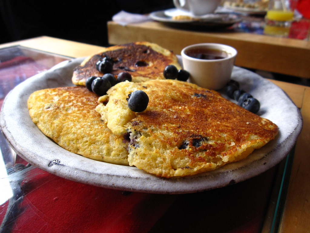 Blueberry Corn Pancakes